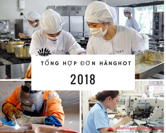 Tổng hợp đơn hàng XKLĐ Nhật Bản tốt nhất tại Hà Nội HR tháng 11/2018