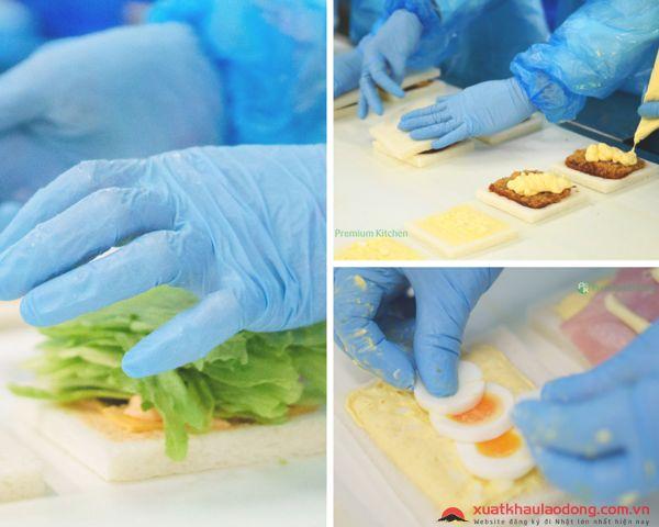 Đơn hàng làm bánh sandwich LƯƠNG CAO156.000 yên/tháng tại Aichi, Nhật Bản