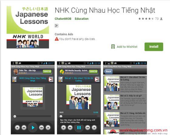 Ứng dụng cùng nhau học tiếng Nhật