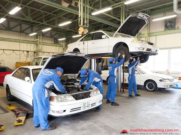 đơn hàng bảo dưỡng ô tô tại nhật