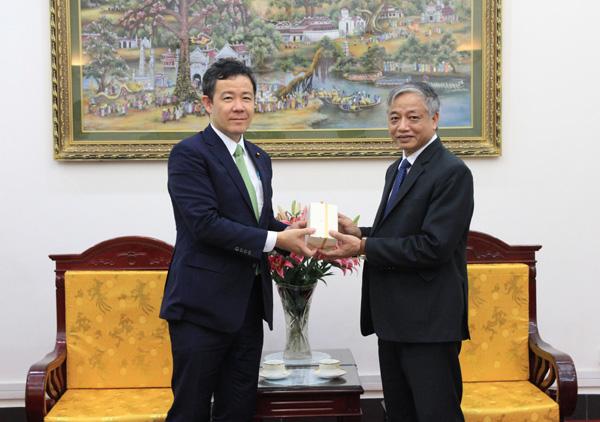 Thứ trưởng tiếp đoàn Nhật Bản tại Hà Nội