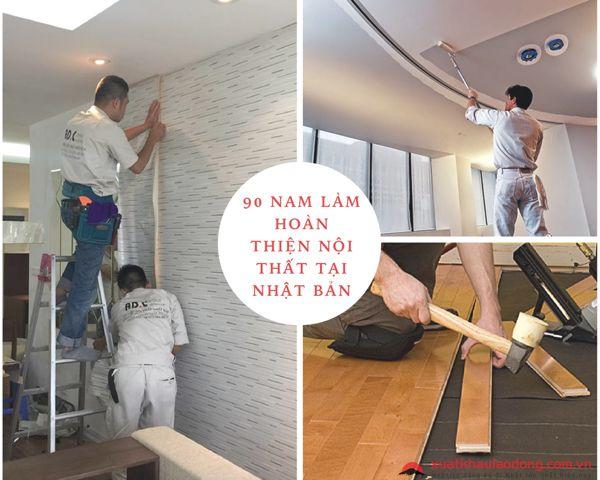 Tuyển 90 Nam hoàn thiện nội thất LƯƠNG CAO tại Kanagawa, Nhật Bản