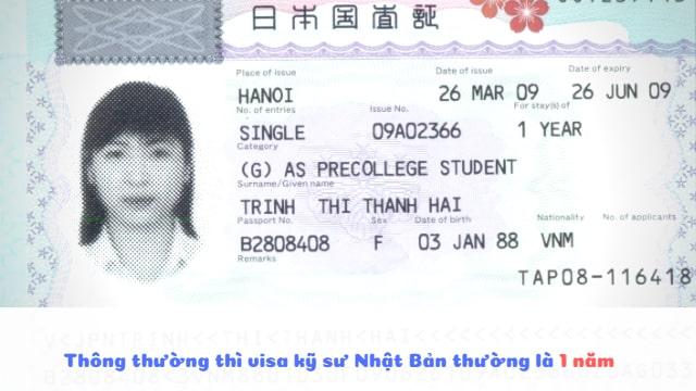 Visa kỹ sư đi Nhật có thời hạn là bao lâu? BẠN CÓ BIẾT?