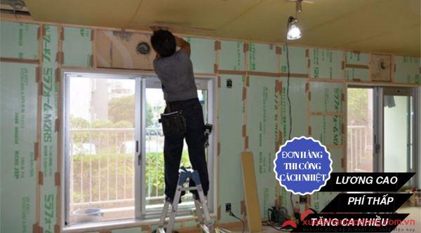 Tuyển 15 Nam thi công cách nhiệt lương CAO, phí THẤP tại Tokyo, Nhật Bản