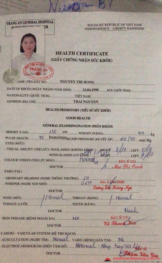 Khám sức khỏe tại bệnh viện Tràng An