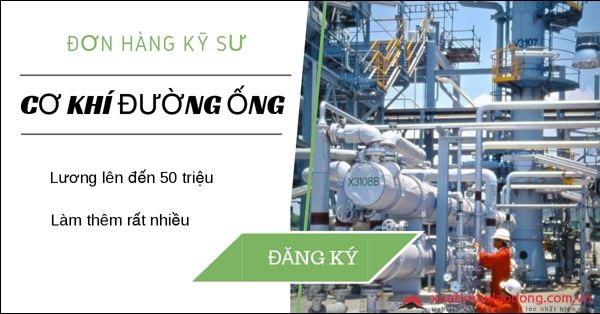 đơn hàng kỹ sư cơ khí đường ống
