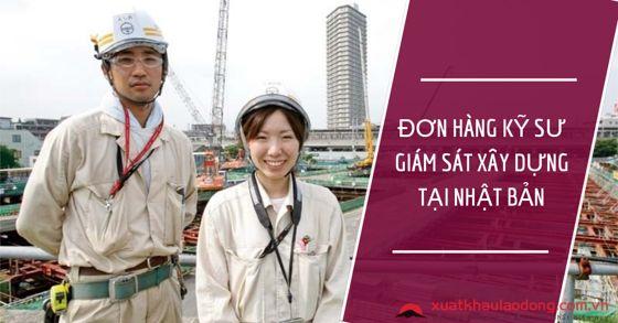 Tuyển gấp kỹ sư giám sát xây dựng KHÔNG TIẾNG tại Nhật Bản