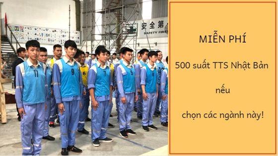 MIỄN PHÍ 500 suất TTS sang Nhật làm việc năm nay khi đi các ngành nghề này!