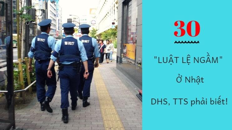 30 luật lệ NGẦM ở Nhật mà TTS, DHS phải biết!