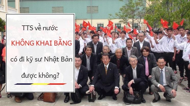 TTS về nước nhưng KHÔNG KHAI BẰNG đại học, cao đẳng thì có Nhật diện kỹ sư được không?