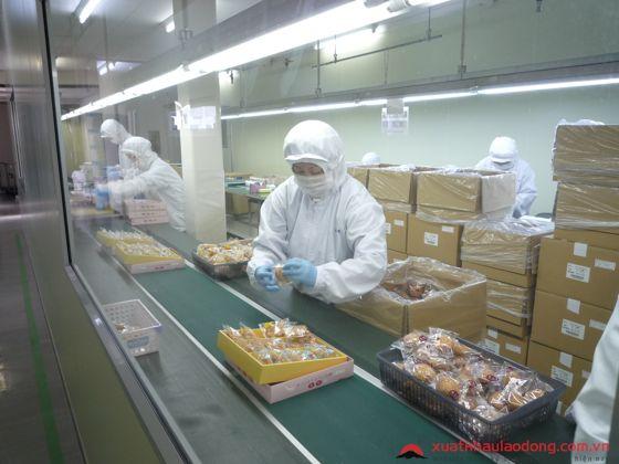 đơn hàng đóng gói thực phẩm tại nhật bản