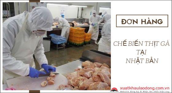 đơn hàng chế biến thịt gà tại nhật bản