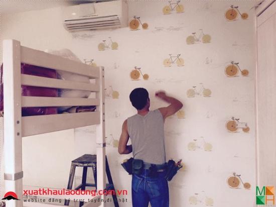 Nhận hồ sơ: 18 Nam dán giấy tường nhà - việc nhẹ, lương cao
