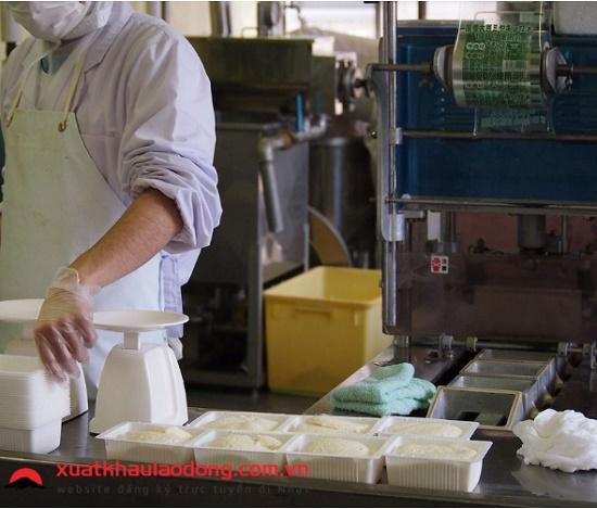 Đi Nhật làm chế biến đậu phụ trong nhà máy dành cho nam dưới 30 tuổi