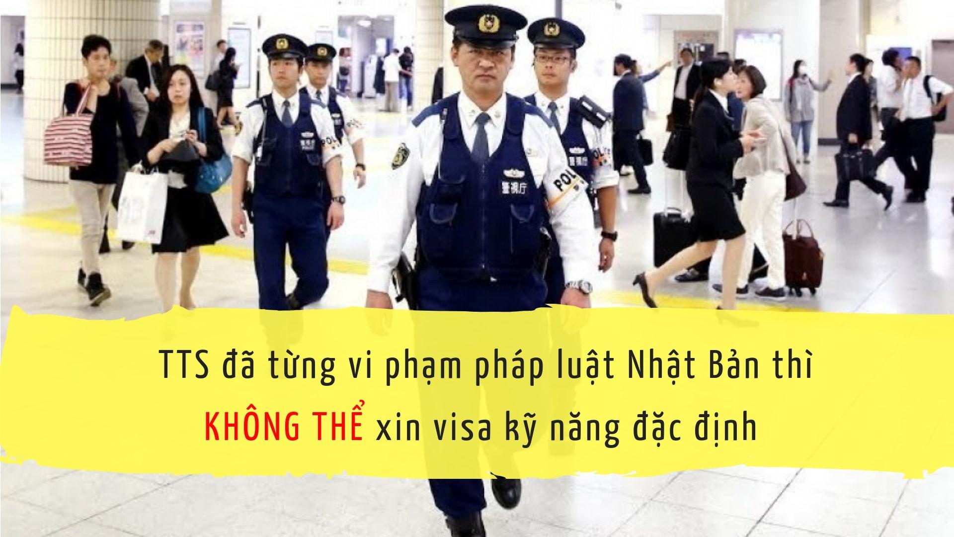 TTS đã về nước thì có thể xin visa kỹ năng đặc định được không?