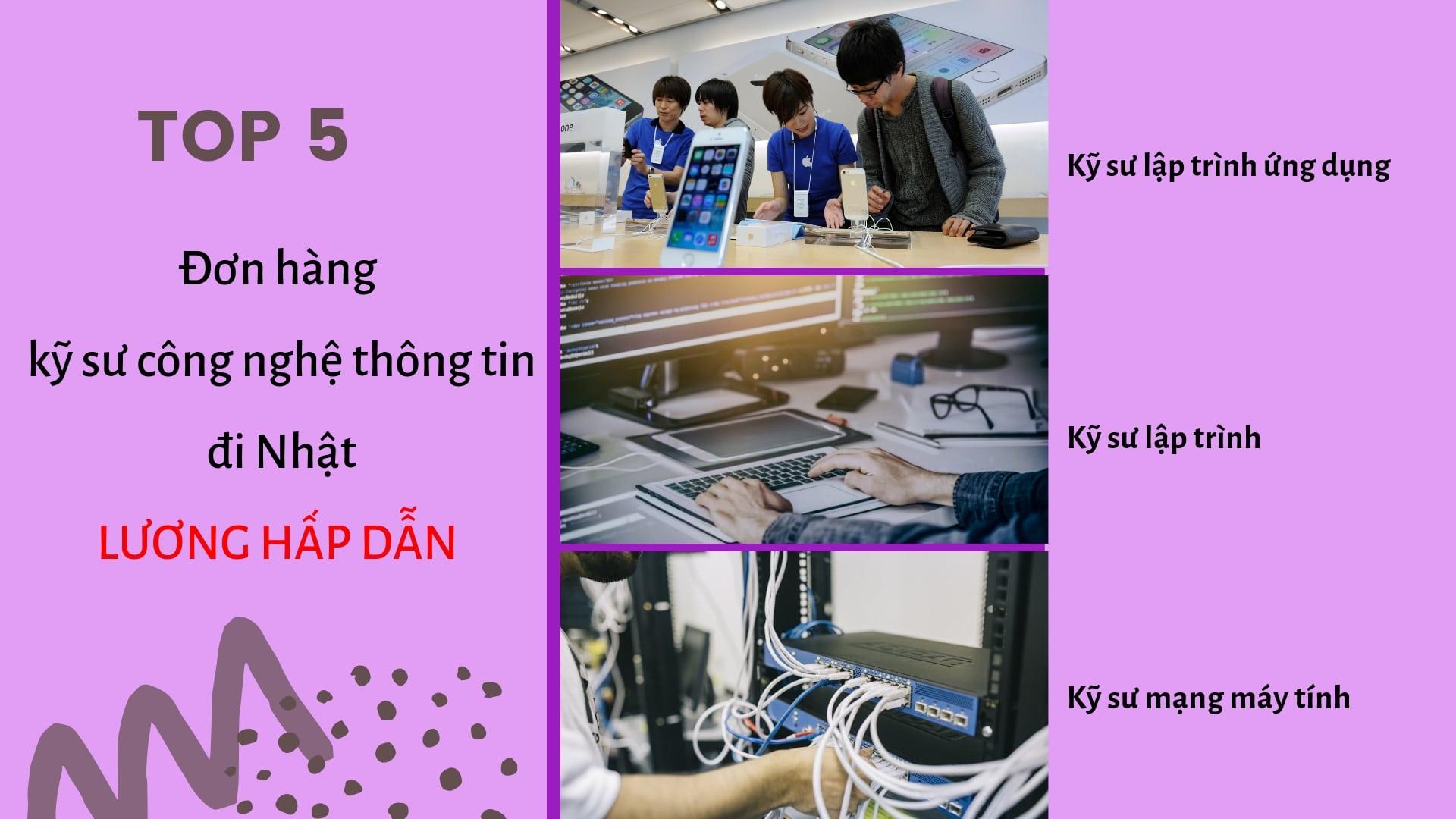 TOP 5 đơn hàng kỹ sư công nghệ thông tin đi Nhật