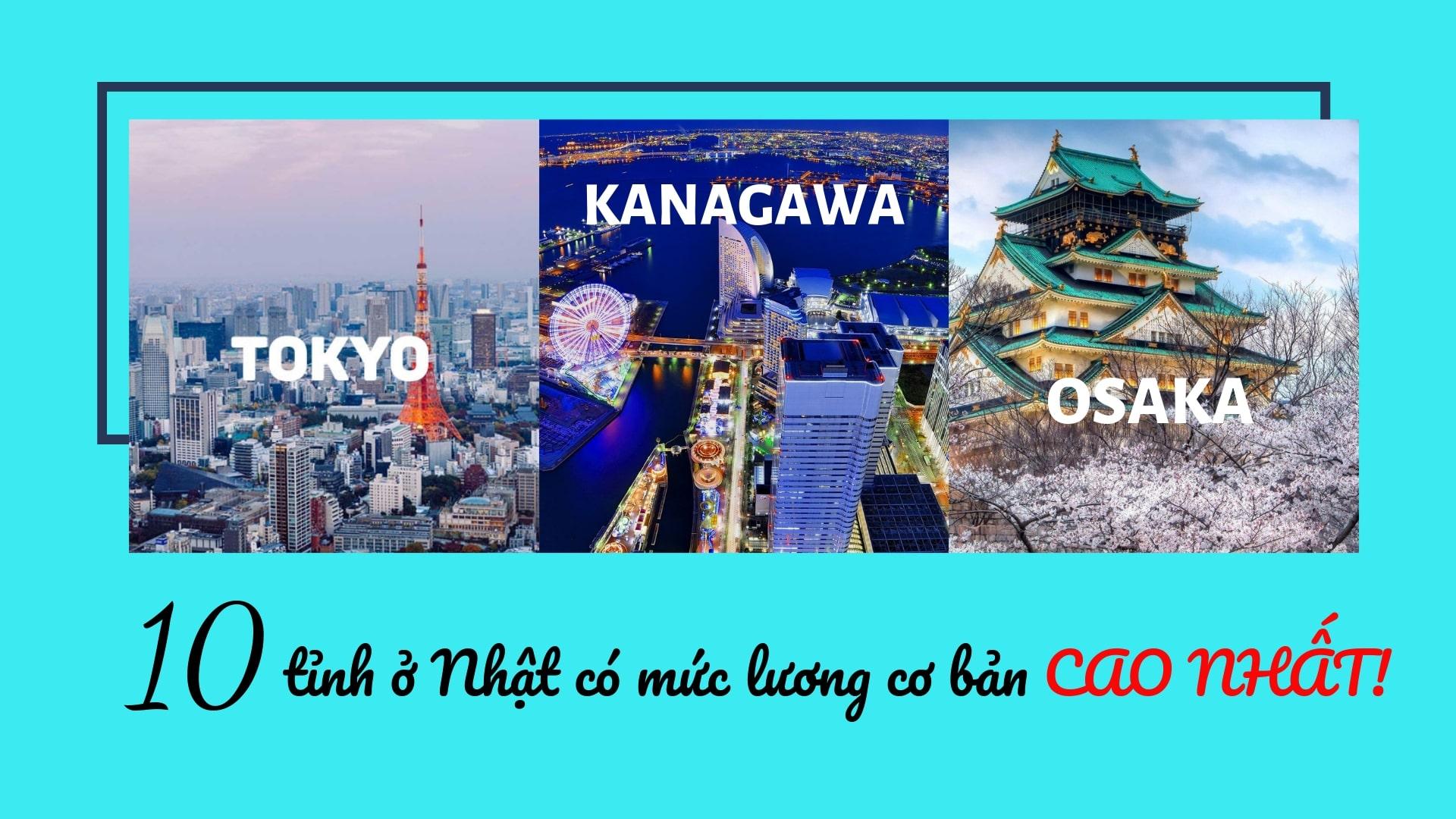 TOP 10 tỉnh ở Nhật có mức lương cơ bản CAO NHẤT – TTS  đã biết chưa?