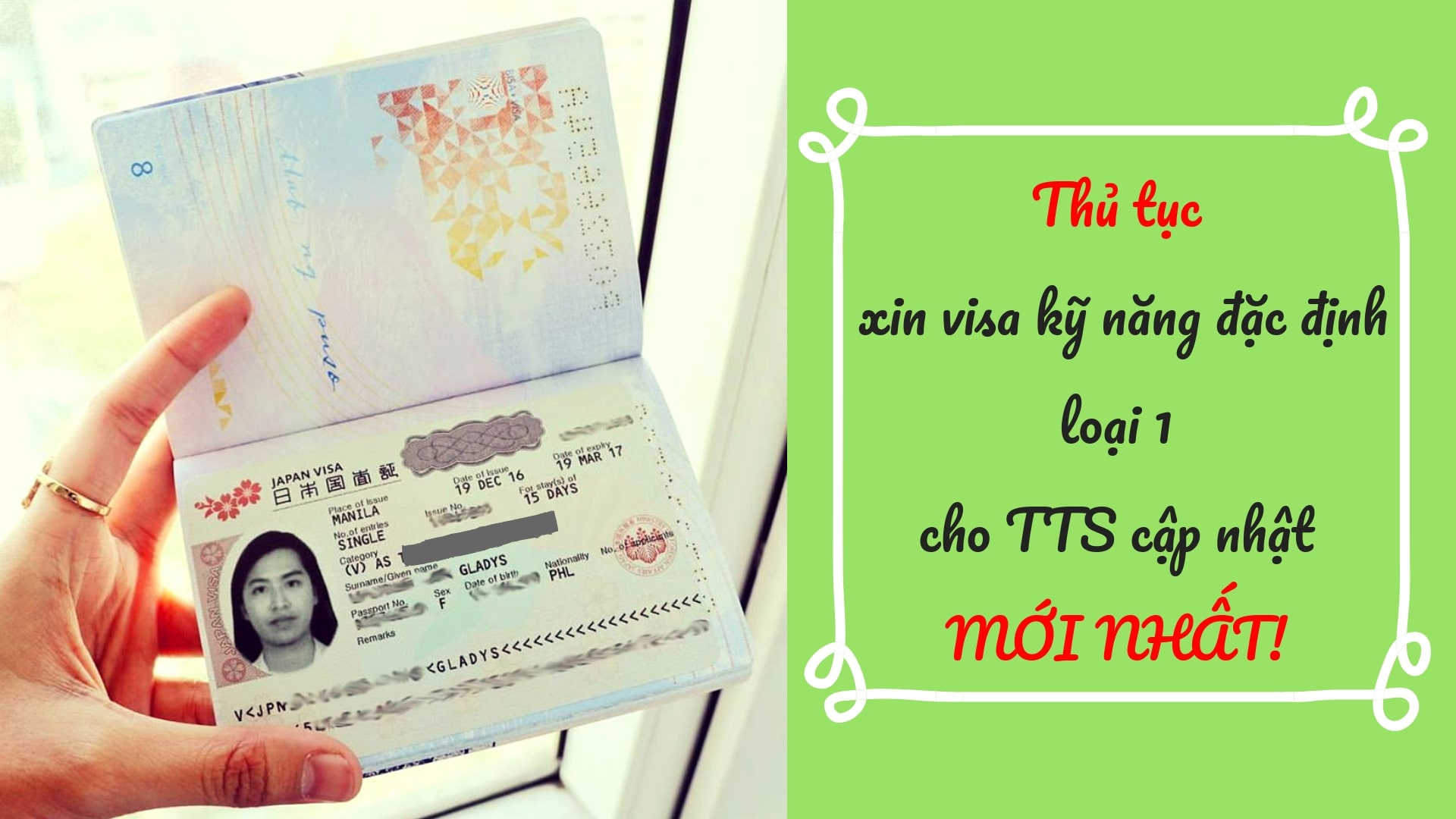 Hướng dẫn làm thủ tục hồ sơ xin visa kỹ năng đặc định CHI TIẾT NHẤT!