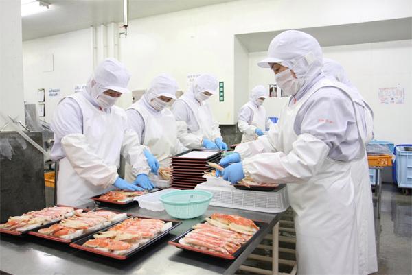 chế biến thủy sản tại Hokkaido