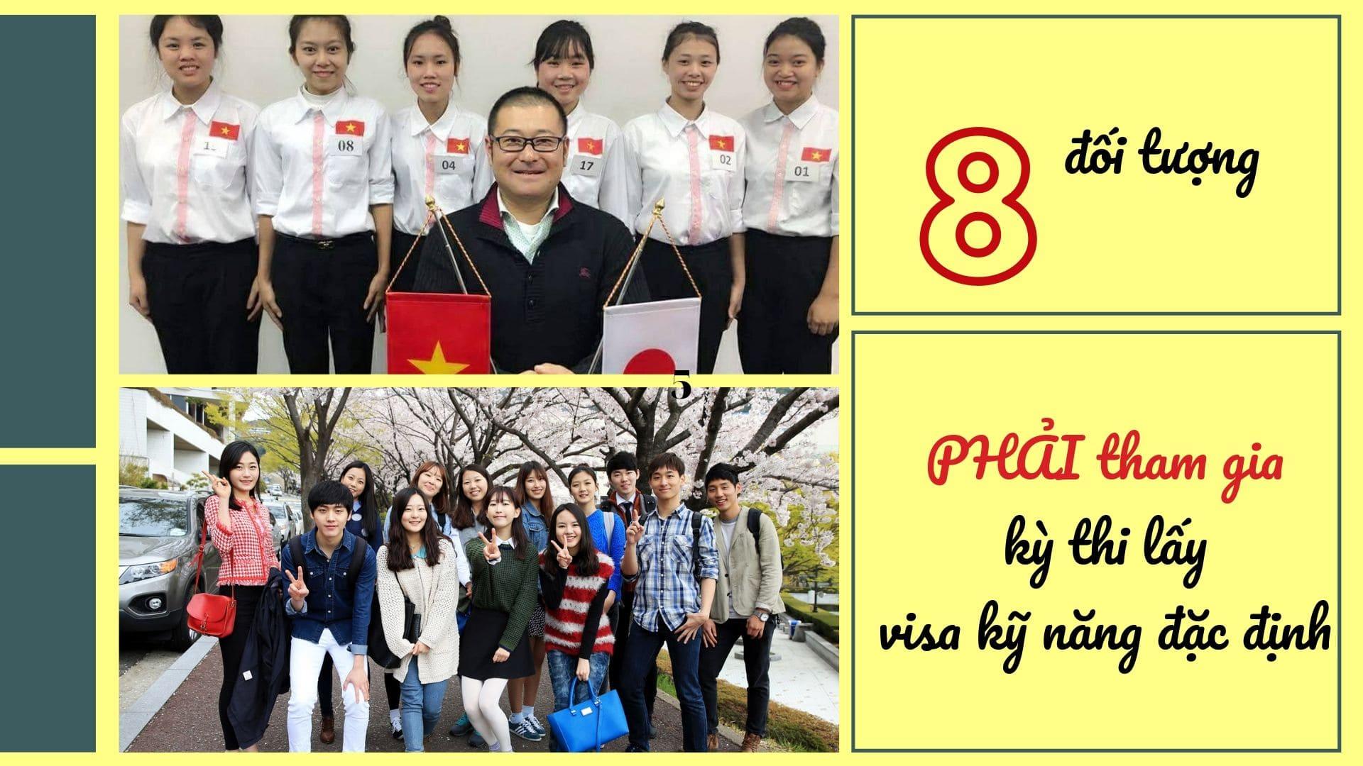 8 đối tượng PHẢI tham gia kỳ thi lấy visa kỹ năng đặc định Nhật Bản