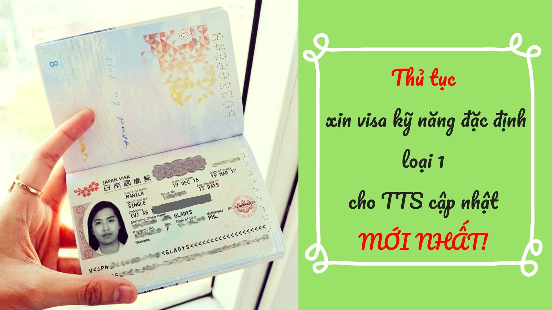 CHÚ Ý 5 vấn đề về visa kỹ năng đặc định số 1