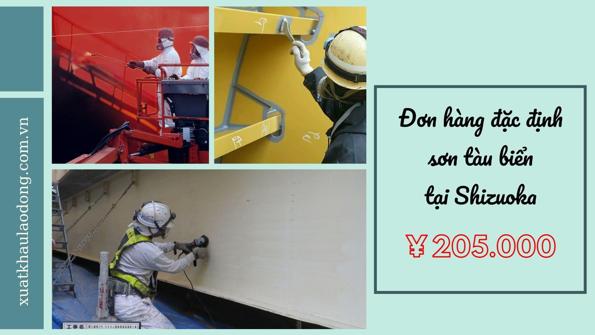 Đơn hàng đặc định sơn tàu biển lương 45 triệu/tháng tại Shizuoka