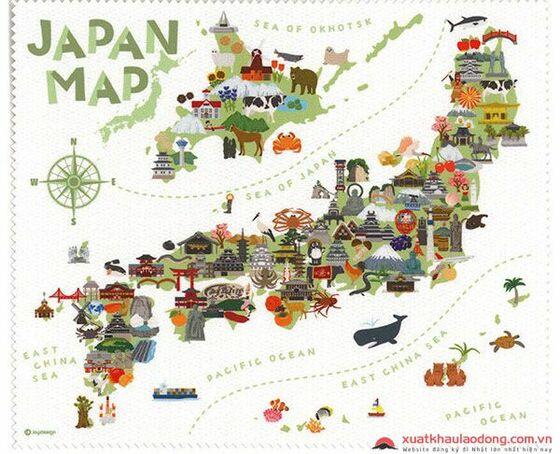 bản đồ nhật bản
