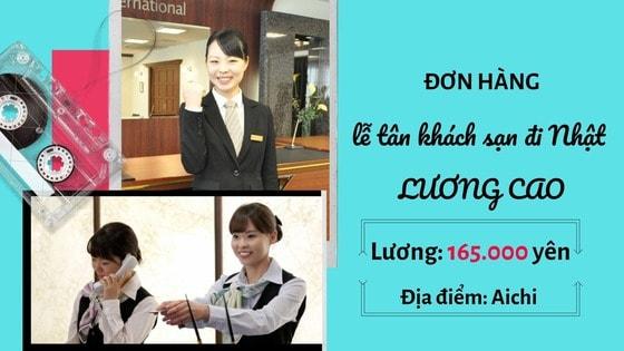 Đơn hàng khách sạn Nhật Bản lương siêu cao, việc nhàn tại Aichi tuyển gấp