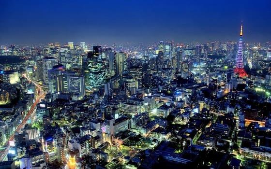 Toàn cảnh thành phố Tokyo về đêm