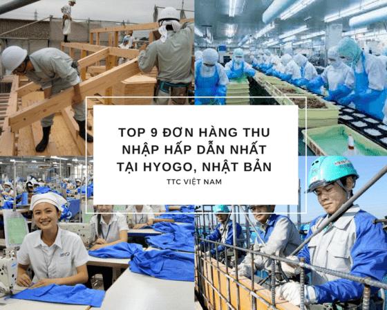 Top 9 đơn hàng thu nhập HẤP DẪN nhất tại Hyogo, Nhật Bản