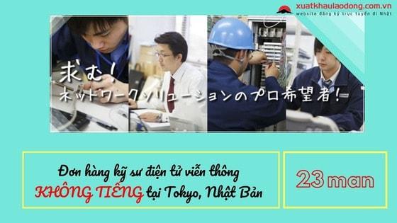 kỹ sư điện tử viễn thông đi Nhật tại Tokyo