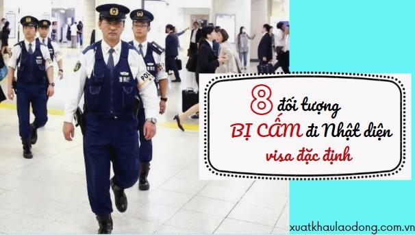 8 đối tượng BỊ CẤM đi Nhật diện visa kỹ năng đặc định