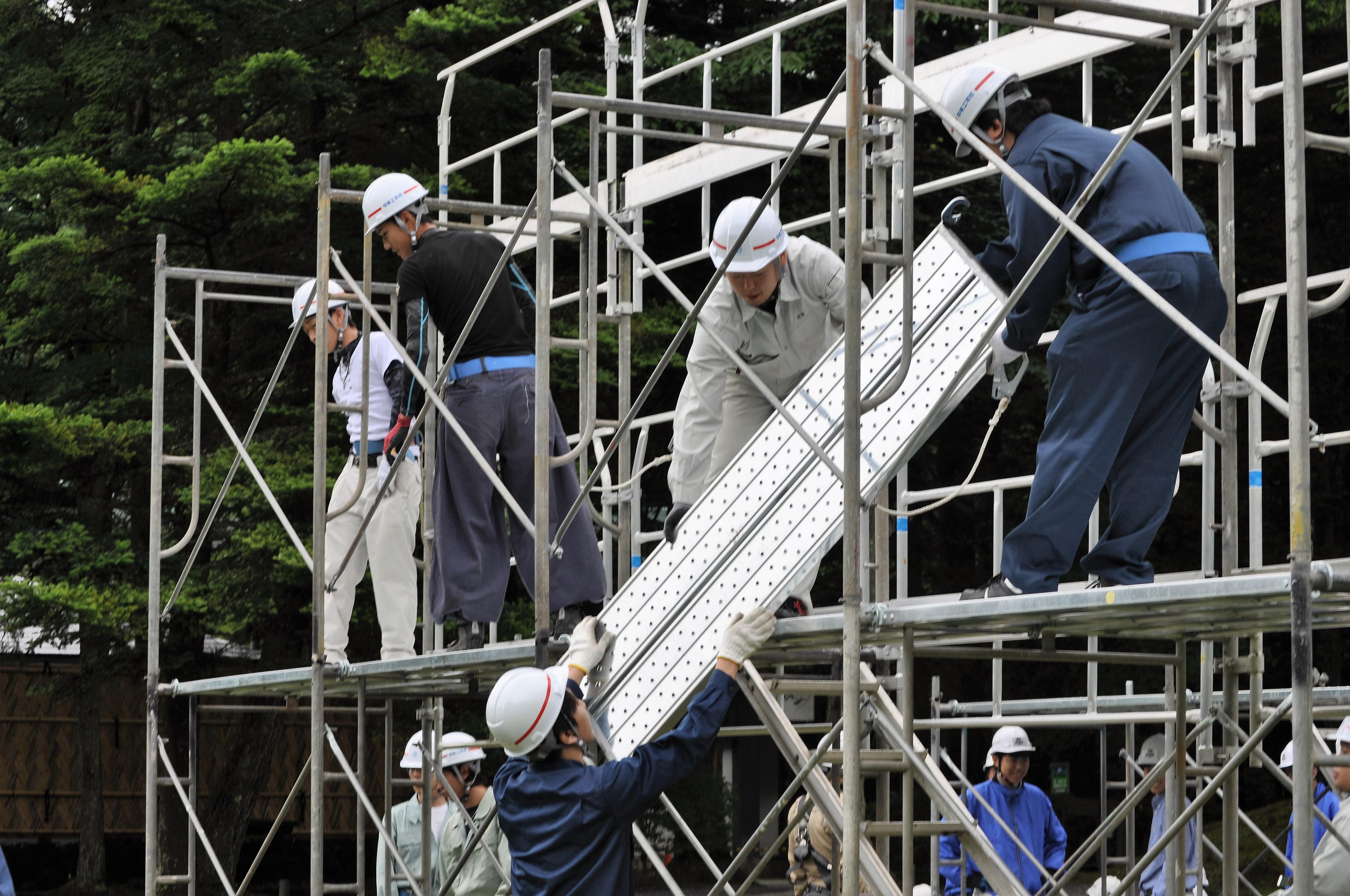 Đơn hàng giàn giáo quay lại Nhật lần 2 tại Aichi