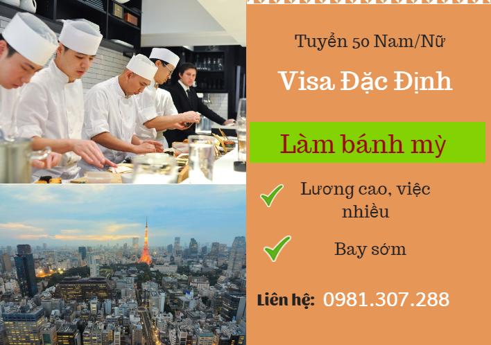 Tuyển 50 Nam/Nữ làm bánh mỳ quay lại Nhật visa đặc định lương Cao