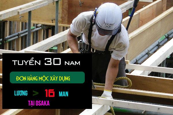 Tuyển gấp 30 nam đơn hàng mộc xây dựng nhật bản - cam kết làm thêm > 60h/tháng