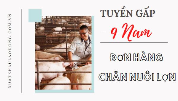 Thi là đỗ- Tuyển gấp 9 Nam đơn hàng chăn nuôi lợn tại Chiba- PHÍ CỰC THẤP